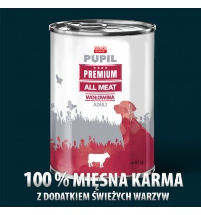 PUPIL Premium All Meat ADULT wołowina 400 g